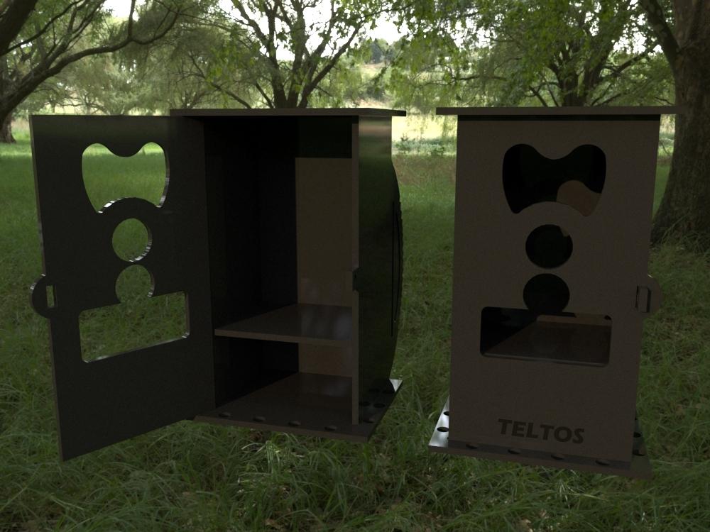 Маскирующий корпус Teltos для фотоловушек Филин 300
